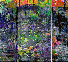 IN BLOOM (triptych) by Paul Quixote Alleyne