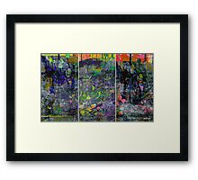 IN BLOOM (triptych) Framed Print