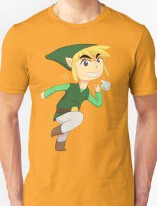 Cartoon Link Green Unisex T-Shirt