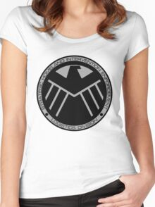 S.H.I.E.L.D logo Women's Fitted Scoop T-Shirt