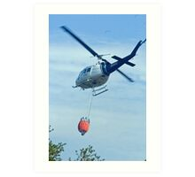 Forestry chopper with bucket Art Print