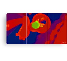 RED SCREEN(triptych) Canvas Print
