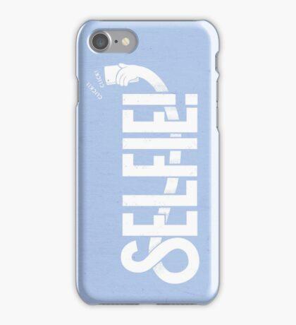 Selfie - Light blue iPhone Case/Skin