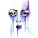 Abstract Watercolour Portrait by Jacqui Frank
