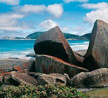 Split Rock, Squeaky Beach, Wilsons Promontory N.P. by Ern Mainka
