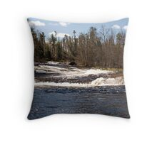pine point rapids view Throw Pillow
