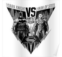 The Dark Knight VS The Man of Steel Poster