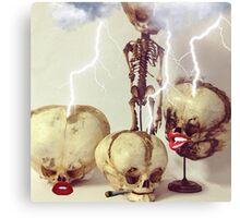 Striking Skulls Canvas Print
