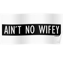 No wifey Poster