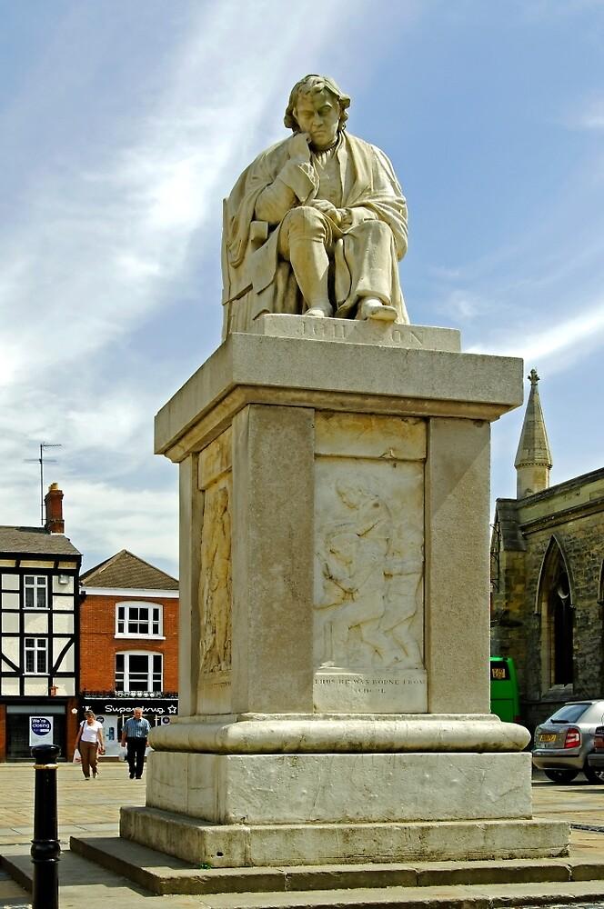 Dr Samuel Johnson Seated Statue, Lichfield  by Rod Johnson