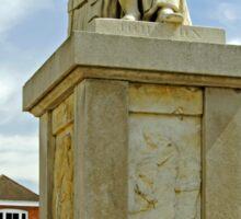 Dr Samuel Johnson Seated Statue, Lichfield  Sticker
