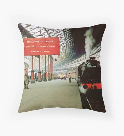 Euston Station for Harrow 19570829 0001 Throw Pillow
