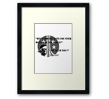 Pvt. Vasquez quote Framed Print