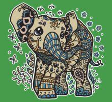 Mandala elephant Kids Tee