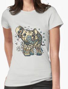 Mandala elephant Womens Fitted T-Shirt