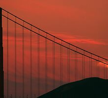 Moon over the Golden Gate by Michael Jack