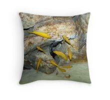 Yellow Fish Throw Pillow