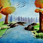 Water Color Painting of landscape by tanmay