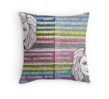 Bad Moods and Blue Days Throw Pillow