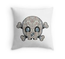 Damask Skull Throw Pillow