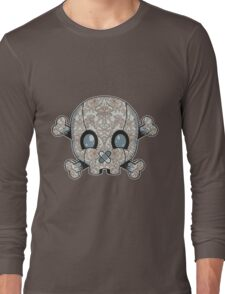 Damask Skull Long Sleeve T-Shirt