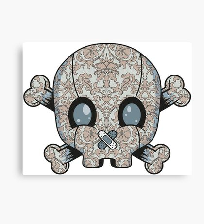 Damask Skull Canvas Print