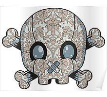 Damask Skull Poster