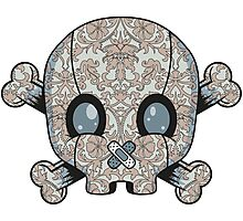 Damask Skull Photographic Print