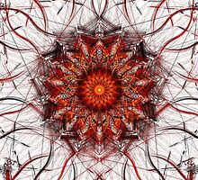 Scorching Sun - Abstract Fractal Artwork by EliVokounova
