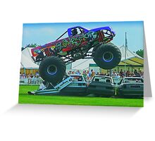 Monster Truck Madness - Surrey County Show - Guildford Greeting Card