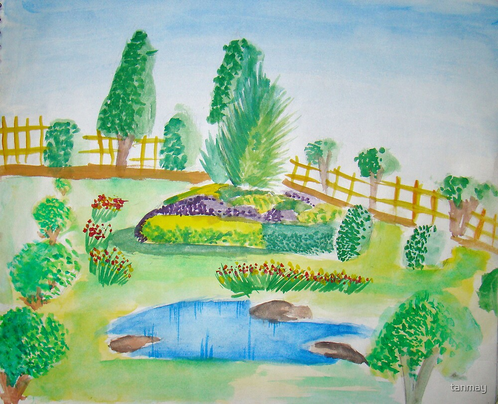 Color Landscape of Park by tanmay