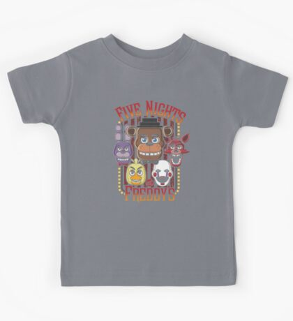Five Nights At Freddy's Pizzeria Multi-Character Kids Tee