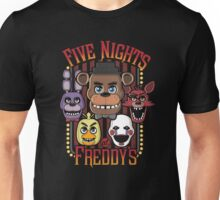 Five Nights At Freddy's Pizzeria Multi-Character Unisex T-Shirt