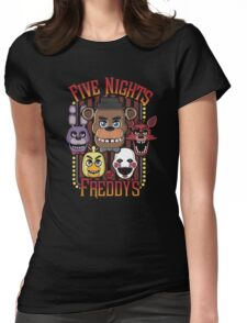 Five Nights At Freddy's Pizzeria Multi-Character Womens Fitted T-Shirt