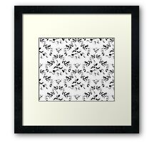 Royal floral ornament Framed Print