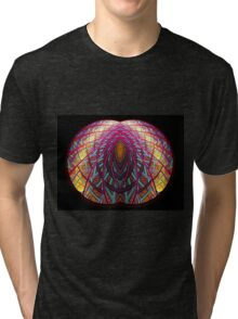 Intimate - Abstract Fractal Artwork Tri-blend T-Shirt