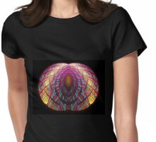 Intimate - Abstract Fractal Artwork Womens Fitted T-Shirt