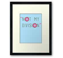 """Not my division."" - G. Lestrade  Framed Print"