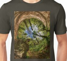 Squirrel Sculpture in Prehen Woods, Derry - Sky In Unisex T-Shirt