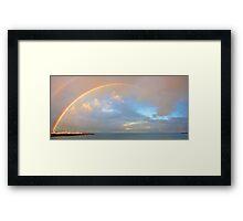 Rainbow Over Fremantle Harbour  Framed Print