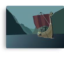 Vikings Minimalist Canvas Print