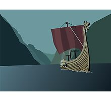 Vikings Minimalist Photographic Print