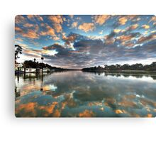 Sunrise on the Murray Metal Print