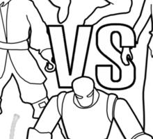 pirates vs ninjas vs zombies vs robots Sticker