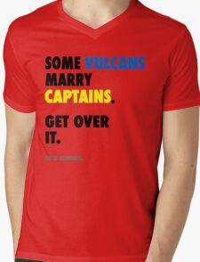Star Trek - Some Vulcans Marry Captains Mens V-Neck T-Shirt
