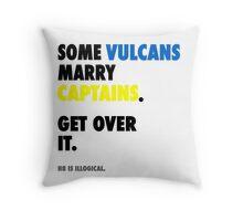 Star Trek - Some Vulcans Marry Captains Throw Pillow
