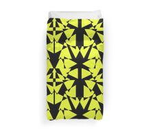 Black and Yellow  Duvet Cover