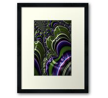 Blue Green Fractal 21 Framed Print