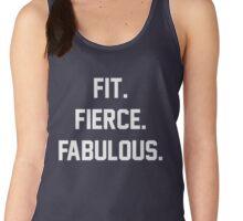 Fit Fierce Fabulous Slogan Women's Tank Top