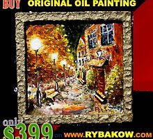 Special offer: Buy original oil painting ONLY $399 on www.rybakow.com by valery rybakow